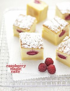 raspberry magic cake