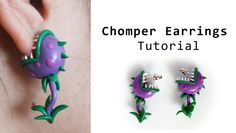 Chomper Earrings from Plants vs Zombies Polymer Clay Tutorial