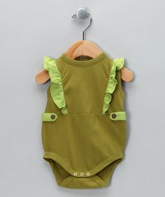 Cactus Button Tab Organic Bodysuit by Kate Quinn Organics on #zulily today!