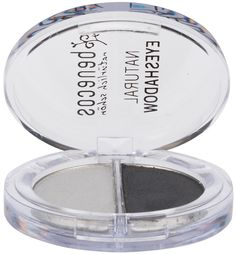 Benecos Duo Eyeshadow Shady Grays has two perfect shades of grey to create the smokey eye look. The lighter silver grey eyehadow to highlight the eye area, using the darker grey to create the smokey eye look. Benecos duo eye shadow contain moisturising natural ingredient jojoba oil together with natural pigments to care and colour the delicate skin of the eyelid. All Benecos eyeshadows contain natural ingredients. BDIH Certified Natural. Vegan.