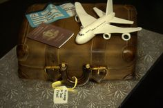 This cake was made for a couple who was leaving the States to go back home