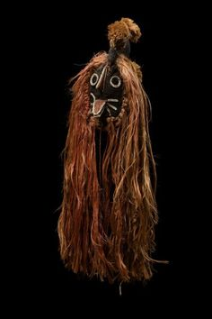 Africa | Mask from the Bobo people of Burkina Faso | ca. 1967 | Vegetal fiber, textile and pigment
