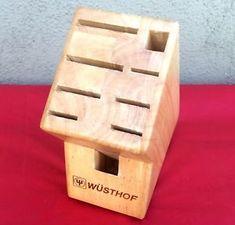 #Wusthof Solid Wood 9-Slot #Kitchen Knife Block Holder #knifeblock #knifeholder #knives