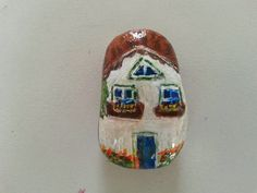 PAINTED STONE...little painted cottage!