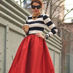 Pretty skirt and blouse...Get Into the New Year's Spirit With This Retro Staple/fabsugar.com