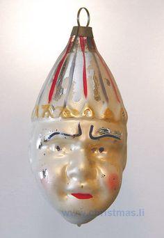 Judy antique glass clown head