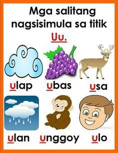 """Anu-ano ang mga salitang nagsisimula sa titik """"a""""? Kilalanin ang mga titik o letra gamit ang mga sumusunod na tsart. #credits to owner ..."""