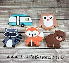 janisbakes, woodland animals, decorated cookies