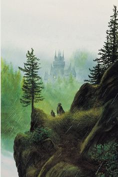 John Howe, Descent to Rivendell                              …