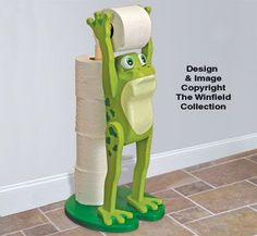 New Items - Frog Bathroom Buddy Pattern Frog Toilet Paper Holder, Woodworking Plans, Woodworking Projects, Frog Bathroom, Frog House, Winfield Collection, Frog Theme, Frog Pictures, Frog Crafts
