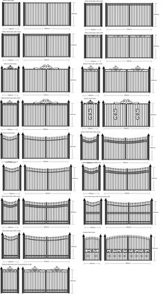 Steel Gate, wrought iron gates and metal fencing. House Fence Design, Front Gate Design, Main Gate Design, Window Grill Design, Door Gate Design, Railing Design, Railing Ideas, Metal Gates, Wrought Iron Fences