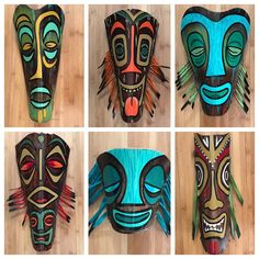 Lots-O-Tikis up in my Etsy shop right now! Palm Frond Art, Palm Tree Art, Palm Fronds, Palm Trees Beach, Milk Jug Projects, Bamboo Planter, Flower Pot People, Tiki Totem, Cardboard Box Crafts