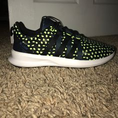 newest collection 904e3 ec391 adidas Shoes   Adidas Sl Loop Neon Green   Color  Black Green   Size  11