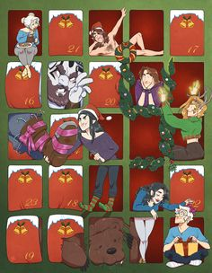 Here is my contribution for this year's Critical Role Holiday Gallery! An advent calendar with all your favorite treats! Please see all the other lovely art here! Critical Role Characters, Critical Role Fan Art, The Adventure Zone, And So The Adventure Begins, Dragon Comic, Critical Role Campaign 2, Vox Machina, D&d Dungeons And Dragons, Nerdy