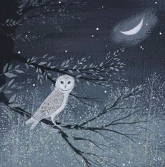 'Summer Night, Moon and Owl' by Lucy Grossmith