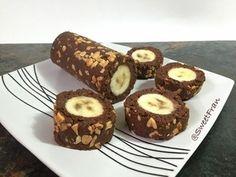 Esta versión de banana roll es muy rápida y sencilla, ideal para improvisar un postre de manera express y como siempre lo ideal es que es saludable. Ingredientes: -1 plátano maduro (dulce...