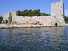 A castle on the Croatian island Vir.