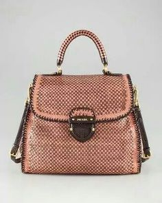 5d1911696292 ShopStyle  Prada Madras Woven Bag  omg this is amazingly gorgeous!