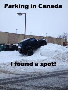 Canadian parking spot...