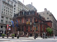 The Union League building on Broad Avenue in downtown Philadelphia.