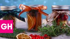 DIY Christmas Scents in a Jar   GH
