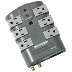 Minuteman® MMS760RCT SURGE PROTECTOR 6-Rotating Outlet with coax and phone line protection