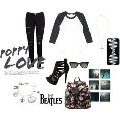Black&White - Fashion look Black White Fashion, Black And White, The Beatles, Fashion Looks, Polyvore, Shopping, Image, Style, Swag