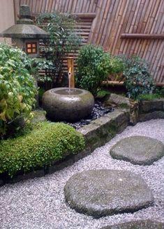 Traditional Japanese Courtyard Garden Pretties How To with Small Japanese Garden Ideas Garden Types, Small Japanese Garden, Japanese Garden Design, Japanese Gardens, Japanese Water Feature, Japanese Garden Backyard, Japanese Garden Landscape, Japan Landscape, Asian Garden