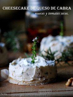 Cheesecake de queso de cabra y nueces