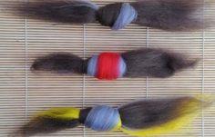 Easy felt ball tutorial - how to make felt ball jewelry using old charm bracelets and merino wool roving.