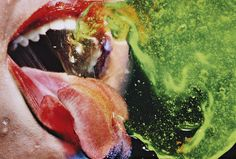 Chewing Green photo by Marilyn Minter, 2008