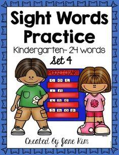 I have created 'Sight Words Practice' to supplement your sight-word lessons. These are the sight words for this download: jump, went, four, ten, out, away, came, five, seven, eight, your, from, who, then, nine, red, blue, pink, yellow, white, black, brown, green, and purple. Sight Words List, Sight Word Practice, Grade 1 English, Teaching Profession, Sight Word Activities, Teaching Ideas, Teaching Resources, Education English, Pre And Post