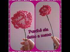 Fiore di Garofano all'uncinetto - Carnation Flower - YouTube