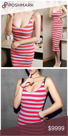 Summer Stripe Sleeveless Dress. Summer Stripe Sleeveless Dress. Material: Cotton Blend.                                                                                  ✅Price Is firm unless Bundle.                                                                                                           ❌NO TRADES ❌ NO LOWBALL OFFERS Dresses Midi