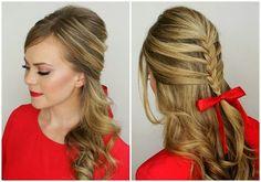 A trança Sereia também conhecida como Trança escama de peixe é totalmente deslumbrante, agora imagina combinada com  outro penteado maravilh...