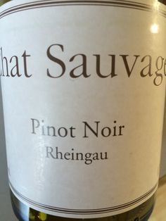 German Pinot, and a good one. Chat Sauvage , Rheingau 2009.