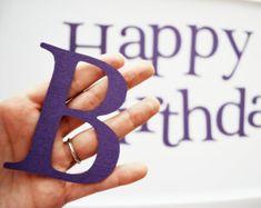 Die Cut Letters Happy birthday die cut letters in by Mariapalito