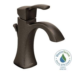 MOEN Voss Single Hole 1-Handle High-Arc Bathroom Faucet in Oil Rubbed Bronze
