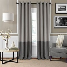 Bring a fresh update to any space with the Elrene Braiden Room-Darkening Window Curtain. This textured fabric curtain with a bold color-blocked design drapes beautifully from grommets for a casual yet elegant look, while blocking unwanted light and noise.