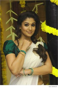 Nayantara Hairstyles for sarees