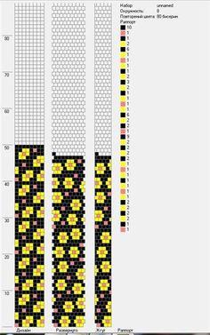 8 around tubular bead crochet rope pattern Crochet Bracelet Pattern, Loom Bracelet Patterns, Crochet Beaded Bracelets, Bead Crochet Patterns, Bead Crochet Rope, Seed Bead Patterns, Bead Loom Bracelets, Beaded Crafts, Beaded Jewelry Patterns