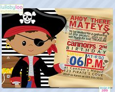 Pirate+Birthday+Invitations+248+African+American++12+by+LullabyLoo