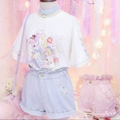 """Color:pink.blue. Size:M.L. Size M: Length:31cm/12.09"""".Hip:95cm/37.05"""".Waist:58-85cm/22.62""""-33.15"""". Size L: Length:32cm/12.48"""".Hip:100cm/39.00"""".Waist:58-85cm/22.62""""-33.15"""". Fabric material:denim. Tips:"""