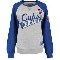Chicago Cubs Women's Biowashed Dugout Fleece Crew Neck Sweatshirt  #ChicagoCubs #Cubs #FlyTheW