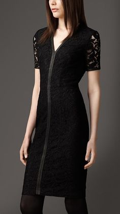 Lace Detail Dress | Burberry