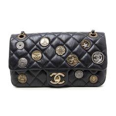 89b98e67a3e Chanel Black Quilted Aged Calfskin Paris - Dubai Medium Medallion Flap Bag
