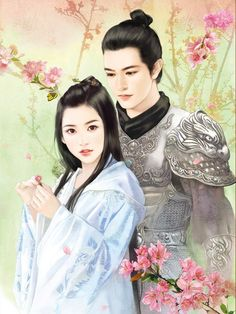 Anhai and Jun Anime Love Couple, Couple Art, Fantasy Love, Fantasy Art, Creative Pictures, Art Pictures, Chinese Painting, Chinese Art, Chinese Drawings