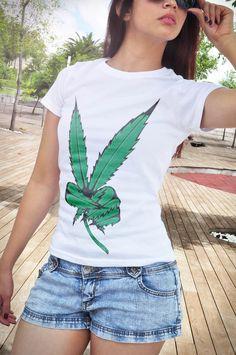 Ladies night shirt sleepwear gown sleep beach tee 420 pot weed stoner gift peace