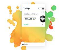 pump  app screen by Boris Kuznetsov