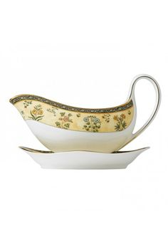 Wedgwood India Gravy Boat.  At Waterford Wedgwood Royal Doulton, Tanger Outlets, San Marcos, TX or call 1-800-203-4540 or 512-396-4025